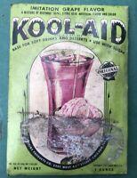 Vintage 1940's Full !!  Un-Opened!  Original KOOL-AID Grape Flavor Cool ! 1 Oz.