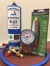 R22, A/C, Refrigeration, RECHARGE KIT GAUGE, PRO SEAL XL4 LEAK STOP KIT inject