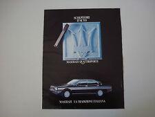 advertising Pubblicità 1983 MASERATI QUATTROPORTE