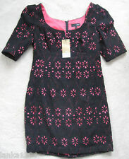 Next Black Lace Lined Tight Shift Tailor Shor tDress (NEW) size 8 Petite-£59.00