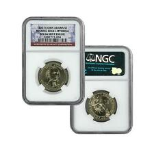 2007 John Adams Presidential Dollar PLAIN EDGE NGC MS64 Rare ERROR COIN!