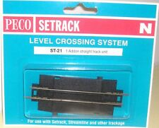 Peco N Setrack ST-21 Level Crossing Addon with Track (N) (Model Railways)