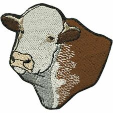 (00951) Sew-On Patch Applique Embroidered Emblem 2 13/16x2 13/16in Cows KUH