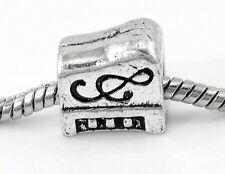 Piano G Clef Note Music Musical Instrument Bead for European Charm Bracelets