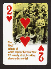 MASH TV Series Alan Alda Loretta Swit Jamie Farr Neat Playing Card #3Y8