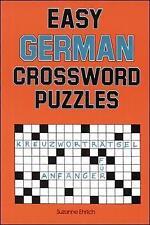 Easy German Crossword Puzzles by Susanne Ehrlich (Paperback, 1989)