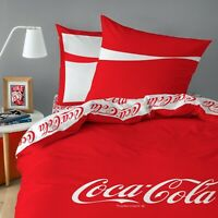 Bettwäsche Coca Cola 2 tlg. Baumwolle 135 x 200 + 80 x 80 cm