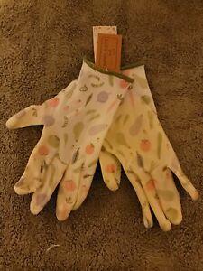 Small Garden Gardener Gardening Gloves Yard Nitrile Knit Wrist Vegetable
