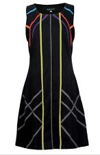 Ladies Summer Sleeveless Evening Sun Dress with Colorful Embroidery