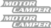 CAMPERVAN CARAVAN / STICKERS /DECAL /GRAPHIC / MOTORHOME  DECAL 2X MOTOR CAMPER