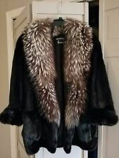 PRICE JUST LOWERED!!!! GENUINE  MINK WITH FOX COLLAR COAT JACKET