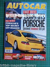 Autocar 19/5/1999 First Drive: Porsche 911 996 GT3 Strathcarron SC-4 Test Beetle