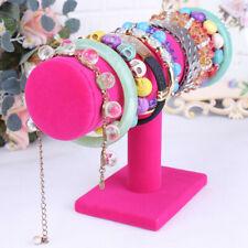 Velvet Women T-Bar Jewelry Rack Bracelet Necklace Stand Organizer Holder Display