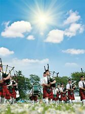 ART PRINT POSTER PHOTO CULTURE PIPE BAND MARCHING SUNSHINE SCOTLAND LFMP0708
