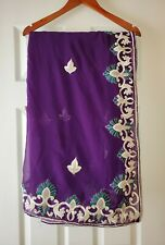 Girls Readymade Purple Saree with white border Traditional Indian Ethnic Wear