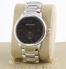 New 100% Auth Burberry BU10005 Men's The Classic Round Black Dial Watch