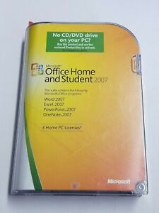 MICROSOFT OFFICE 2007 HOME AND STUDENT LICENSED FOR 3 PCS FULL RETAIL BOX G1.3