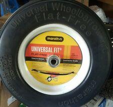 "Marathon Flat Free Wheel Tire for Wheelbarrow Replacement 13""to16"" Universal"