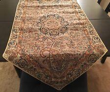 Persian luxury handmade termeh (table cloth)/Silk/orange green gold cream