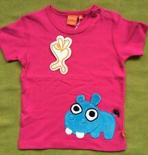 Scandi pink Hippo Kids tshirt BNWT By Lipfish s/slv 3 yrs (euro 98)