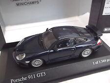 Minichamps 1/43 Porsche 911 GT3 - 1999 Metallic Blue 430 068007