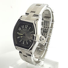 Cartier Roadster 2510 Large Size Steel Black & Silver Dial Automatic Watch