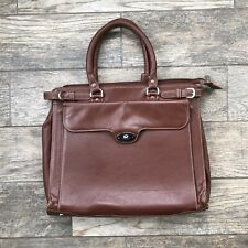 APC Brown leather briefcase bag 16x12 Double handle