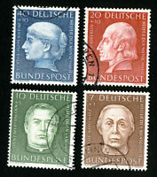 Germany Stamps # B338-41 VF Used Catalog Value $44.00