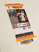 Christian Arroyo's MLB Debut SF Giants v. LA Dodgers Season Ticket Stub, 4/24/17