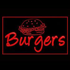110245 Hamburger Cheeseburger French Fries American Lettuce Cola LED Light Sign