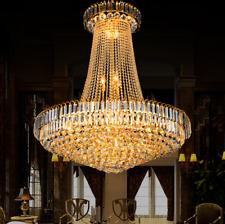 60cm Luxury K9 Crystal Chandelier Fixtures Modern Ceiling Lighting Pendant Lamp