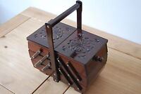 BEAUTIFUL VINTAGE STYLE  WOODEN  MEDIUM SEWING BOX HAND CRAFTED