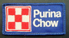 "PURINA CHOW EMBROIDERED SEW ON PATCH ANIMAL FEED GRAIN LOGO FLAG 3 7/8"" x 2"""
