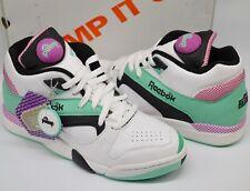 New Reebok Court Victory Pump White/Mint/Black/Violet Retro 80's Rare sz 9 Chang
