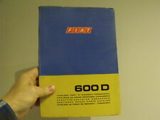 Fiat 600  Car body parts manual  - vintage Microcar