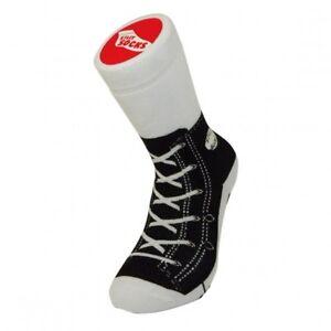 NEW Unisex Black Sneaker Print Socks Adult Size 5-11