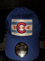 MLB CHICAGO CUBS NEW ERA 9 TWENTY BLUE CHICAGO CITY FLAG STRAPBACK HAT 21112537