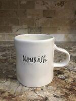 Rae Dunn Magenta Artisan NOURISH Farmhouse Coffee Tea Cup Mug Ivory LL New