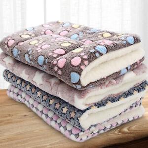 Pets Cat Dog Puppy Fluffy Bed Blanket Warm Cozy Calming Sleeping Mattress Kennel