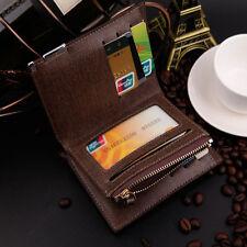 Soft Black Fashion Men's Purse Luxury Bifold Leather Wallet Credit Card Holder