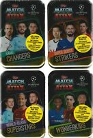 Set of 4 2019-20 Topps UEFA Champions League Soccer Match Attax 60c. MIDI TINS
