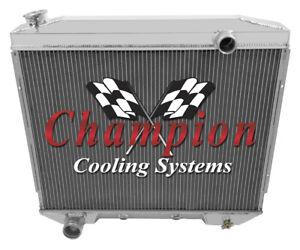 V8 Engine, 1958 Edsel Citation 3 Row Champion DR Aluminum Radiator