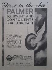 9/1945 PUB THE PALMER TYRE WHEEL BRAKE AIRCRAFT EQUIPMENT ORIGINAL AD