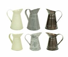 Vintage Cream, Copper Or Galvanised Metal Flower Jug Vase Wedding Decoration