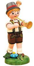 Musikkind Junge mit Trompete, Miniaturen von Hubrig,308h1004