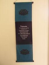 Large inspirational balinese affirmation wall hanging banner Namaste - Turquoise