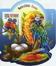 Sierra Leonean Sheet Parrots Bird Postal Stamps
