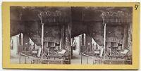 Palace Holyrood Queen Mary 'S Bedroom Scozia Scotland UK Foto Stereo Albumina