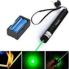 Powerful 5mw 532nm Green Laser Pointer Pen 10Mile Burning Laser+Battery+Charger