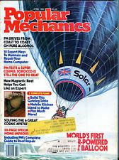 Popular Mechanics Magazine April 1982 First Solar-Powered Balloon EX 021516jhe